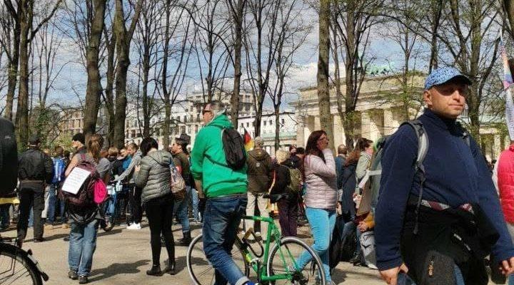 Brandenburger Tor Berlin Demo Bericht 21 April 2021