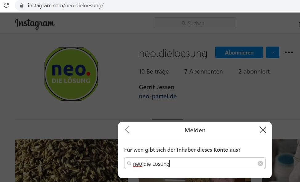 Gerrit Jessen Instagram Fake Account